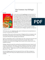 CDC Advisory_ Do Not Consume Any Kellogg's Honey Smacks Cereal - Food Safety Magazine