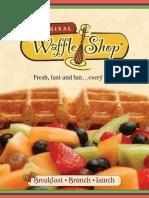 The Original Waffle Shop Menu