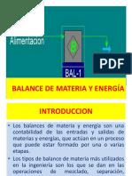 1 a Balance de Materia y Energía