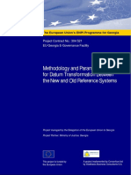 Methodology and Parameters for Datum Transformation Between the New and Old Reference Systems