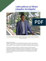 Estudios sobre pobreza en México están relegados