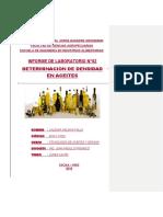 P-2 Determinacion de Densidad en Aceites