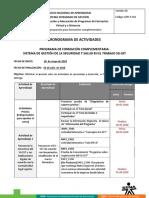 Cronograma Actividades SG SST
