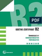 Deutsch Uebung Test b2 4 Goethe Zertifikat Pruefung