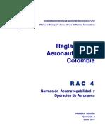 RAC  4 - Normas de Aeronavegabilidad y Operación aeronaves.pdf