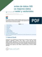 10 Fuentes de Datos GIS Gratis Los Mejores Datos Globales Raster y Vectoriales