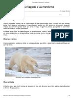 Camuflagem e Mimetismo - InfoEscola