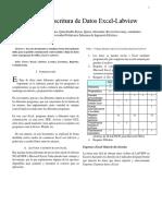 Informe Lectura Excel