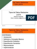 Tipos de Datos Abstractos LISTAS