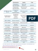Korean Questions 1
