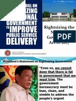 National Government Rightsizing Program