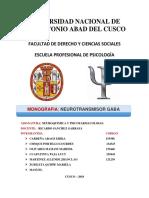 presentacion NEUROTRANSMISOR GABA