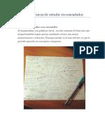 Métodos y Técnicas de Estudio Para Estudiantes De