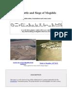 The Battle and Siege of Megiddo