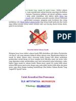 Resep Obat Infeksi Saluran Kemih Yang Ampuh Di Apotik Umum