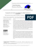 Comparativo de Técnicas de Inteligencia Artificial Aplicadas a Pronósticos