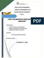 Informe de Peso Volumetriico Fiolaa Abracion