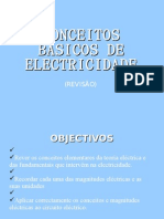 CONCEITOS BÁSICOS DE ELECTRICIDADE