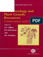 Biotechnology and Plant Genetic Resources_ - J a Callow & Brian v. Ford-Lloyd & H J Newbury