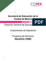Lineamientos de Operación Saludarte Cdmx