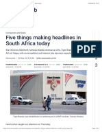 Five Things Making Headlines in South Africa Today - Moneyweb