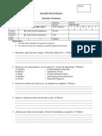 Examen de Entrada Psicología Educativa