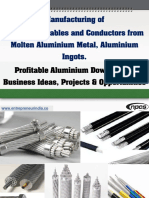 Manufacturing of Aluminium Cables and Conductors from Molten Aluminium Metal