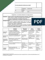 Rúbrica de Evaluación de Discursos Orales Comp