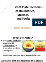 Plate Boundaries, Stress, Faults