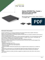 Zalman NC3500 Plus Cooler Altavoces Para Portatil