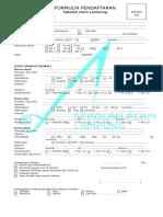 Formulir Pendaftaran Ukuran Legal