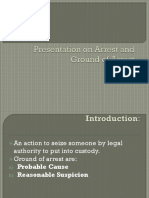Arrest and Grounds of Arrest