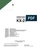 Sysmex KX-21 Hematology Analyzer - Instruction Manual(1)
