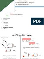 Forme Clinice-periodontologie Pediatrica