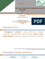 Diagnosis Dan Resusitasi Pada Pasien Syok Perdarahan & Syok Dehidrasi