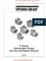 P Series PK PG PE PW PR PC PJ Hydrostatic Pumps Hydro Gear Service and Repair Manual