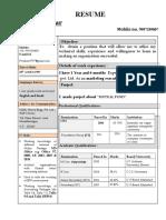 Resume Pawan Kumar