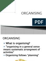 Final Organizing