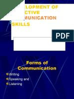 Development of Effective Communication Skills