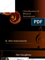 Classification of Musical Instruments