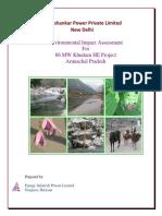 Khuitam HE Project Arunachal Pradesh - EIA