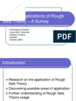 Example Applications of Rough Sets Theory – a Survey