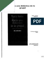 HAcia Una Didáctica de Lo Grupal Marta Souto