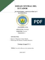 USO DE LAS ROCAS EN LA CONSTRUCCIÓN