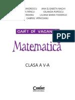 Caiet Vacanta Matematica V
