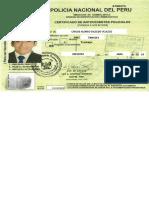 Certificado Policial