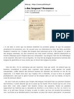 PhiloLog » Quelle Est l'Origine Des Langues? Rousseau » Print