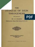 1915 Raleigh Stanzas of Dzjn Theogenesis