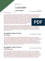 Sophian.org • Teachings & Sayings of John the Baptist(1)
