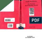 DURKHEIM, Émile. Da Divisão Social Do Trabalho - Cópia
